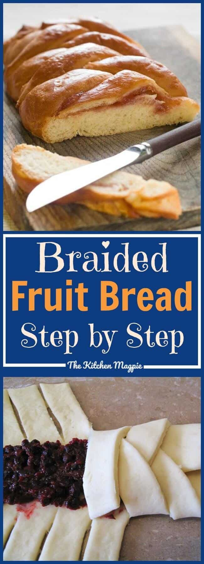 Step by step instructions and photos showing you How to Make a Fruit Filling Bread Braid. This is a simple yet gorgeous way of making sweet bread. Use pie fillings to make it easier! #bread #recipe #fruit #baking #dessert
