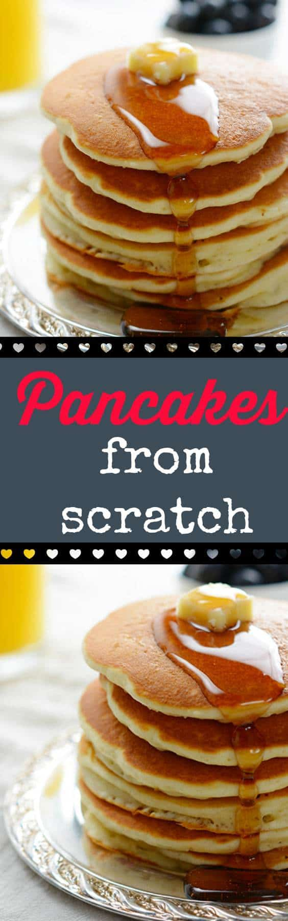 How to make simple but delicious pancakes from scratch, my family's favourite easy recipe! From @kitchenmagpie