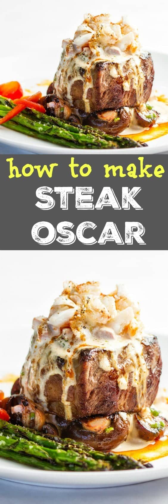Steak Oscar Recipe -Crab and tenderloin steaks with hollandaise, low carb and fabulous! #steak #keto #lowcarb