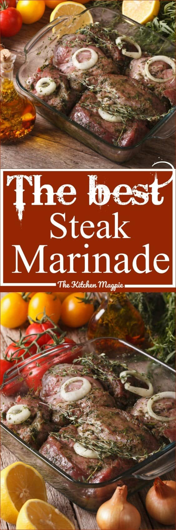 Steak Marinade Recipe! Easy and delicious! Simply mix it up and marinate your steaks overnight. Fire up the BBQ and you're set!