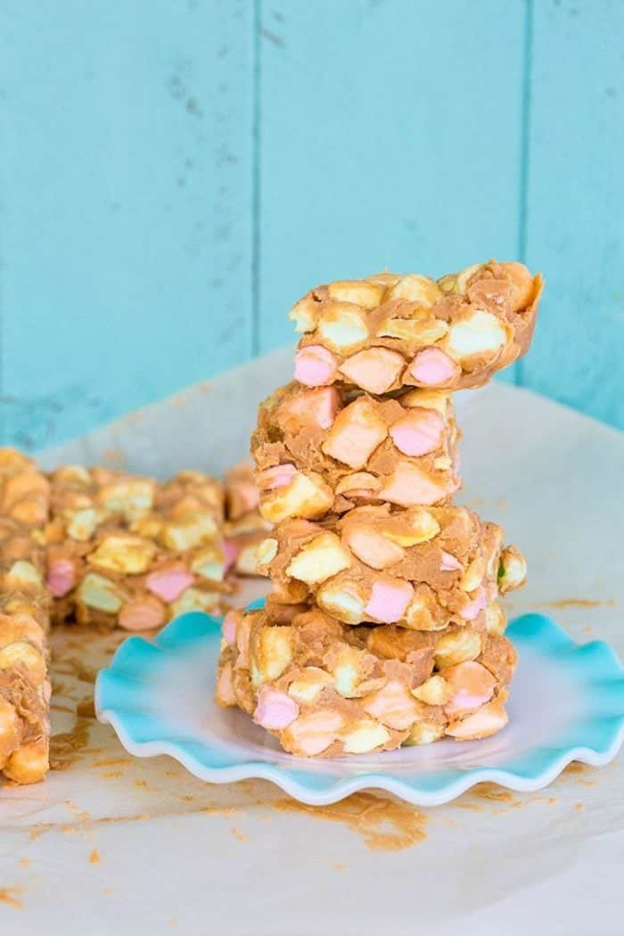 No Bake Peanut Butter Marshmallow Squares AKA Confetti Bars from @kitchenmagpie