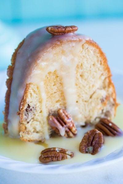 Pecan Butter Rum Cake Recipe