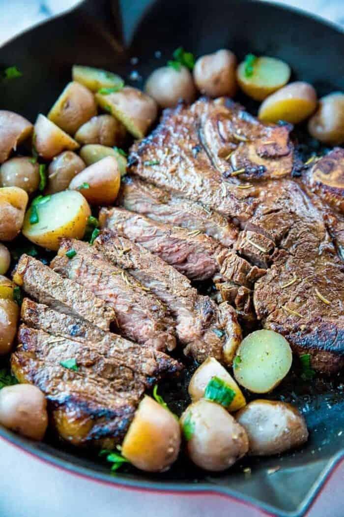 T-Bone Steak marinated and BBQ'd