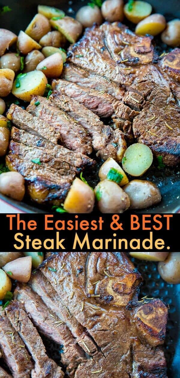 Fix this SUPER EASY and delicious steak marinade is for busy parents! Fix it and forget it until you are ready to BBQ! #recipe #bbq #steak #marinade #beef #barbecue #sauce #grilling