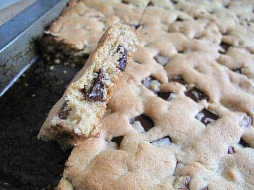 How to make chocolate chip pecan cookie bars.