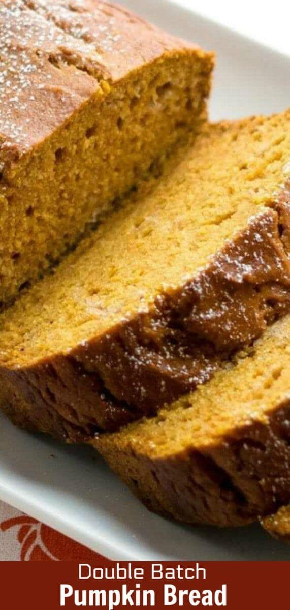 Delicious pumpkin bread that uses half oil and half apple sauce. This is one of those recipes you definitely need in your recipe box! #pumpkin #bread