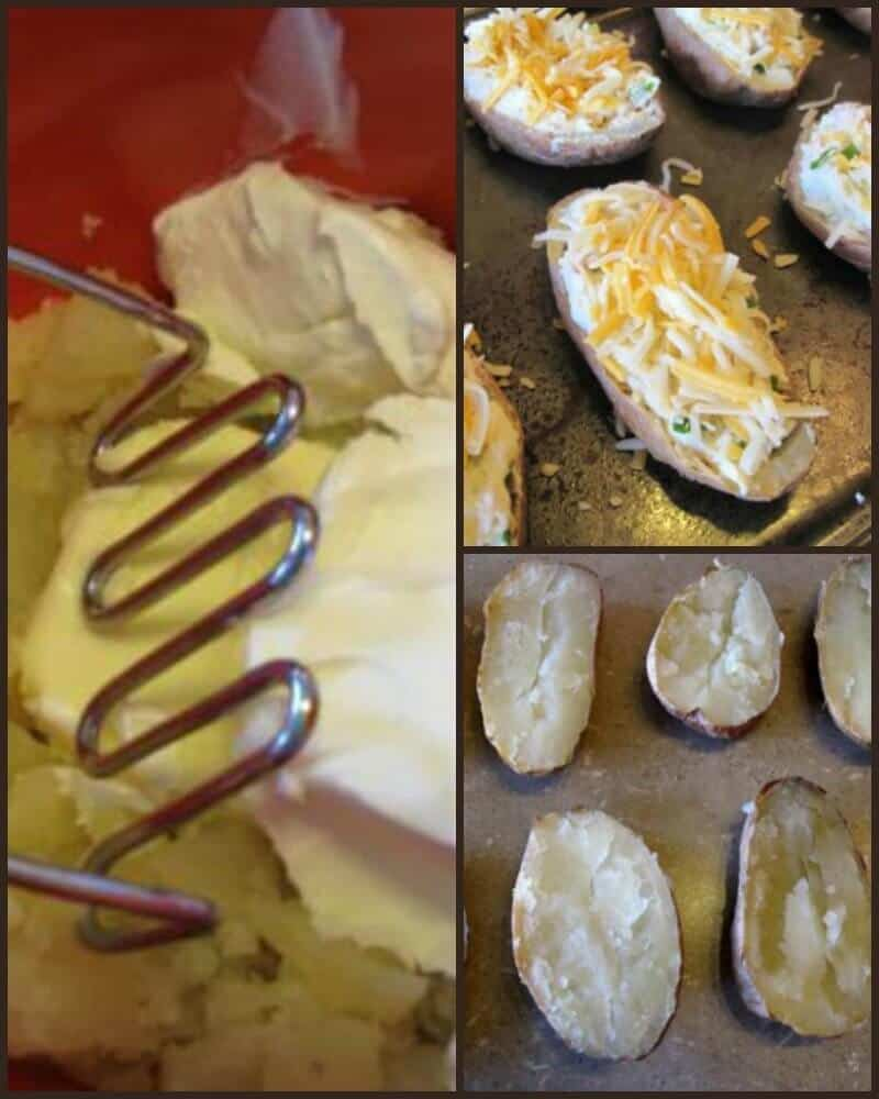 How to mash and stuffed the twice baked potatoes