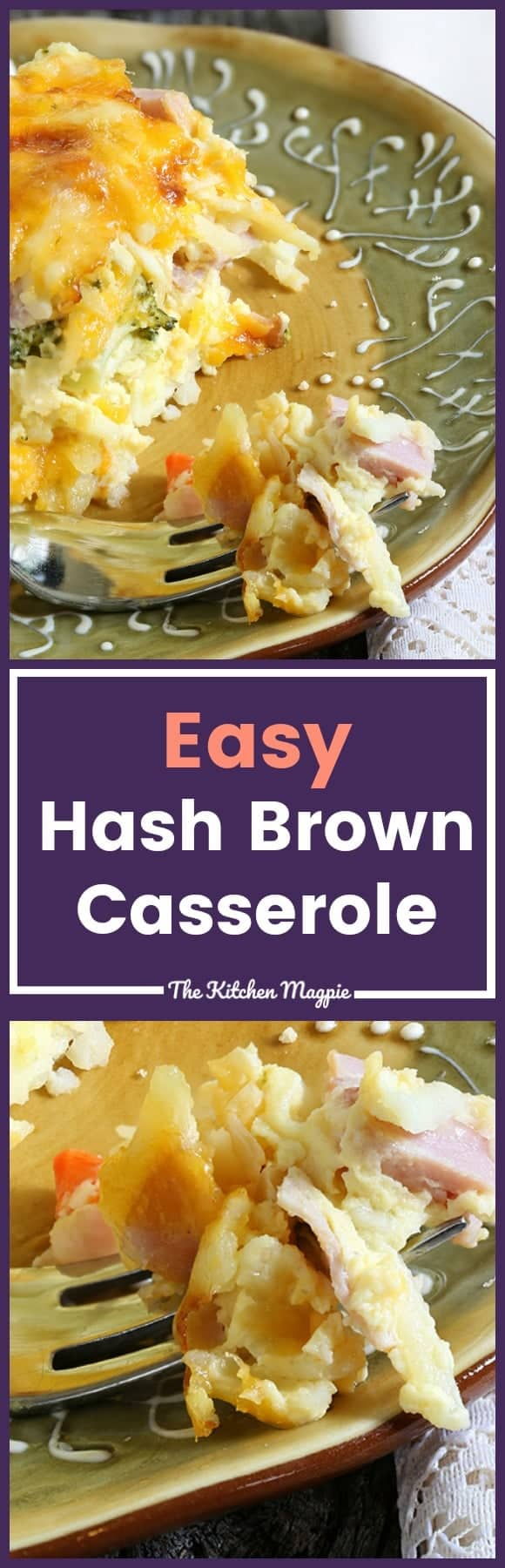 Simple, Easy Hash Brown Casserole. Perfect for lazy Sunday mornings or holiday breakfasts! #recipe #christmas #casserole #breakfast