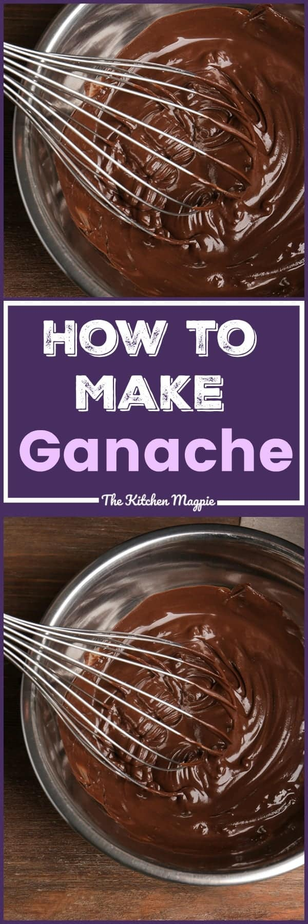How To Make Ganache - this thick, creamy chocolate can be a truffle, a cake topping or a drizzly sauce, the choice is up to you! Recipe from @kitchenmagpie. #recipe #dessert #chocolate