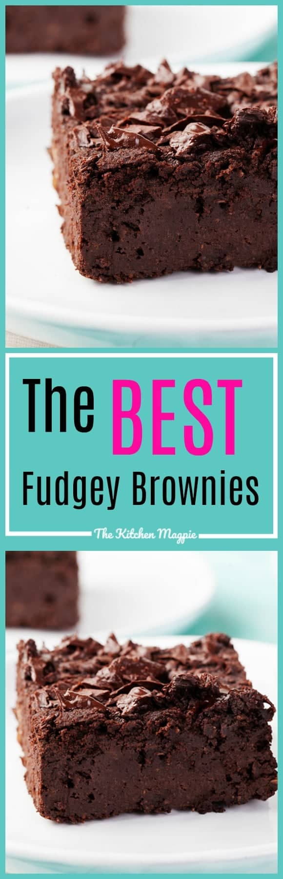 The Best Chewy Brownies Recipe AKA Chocolate Chewy Wonders. These are for the people that love fudgey brownies! Recipe from @kitchenmagpie. #brownies #chocolate #recipes #dessert