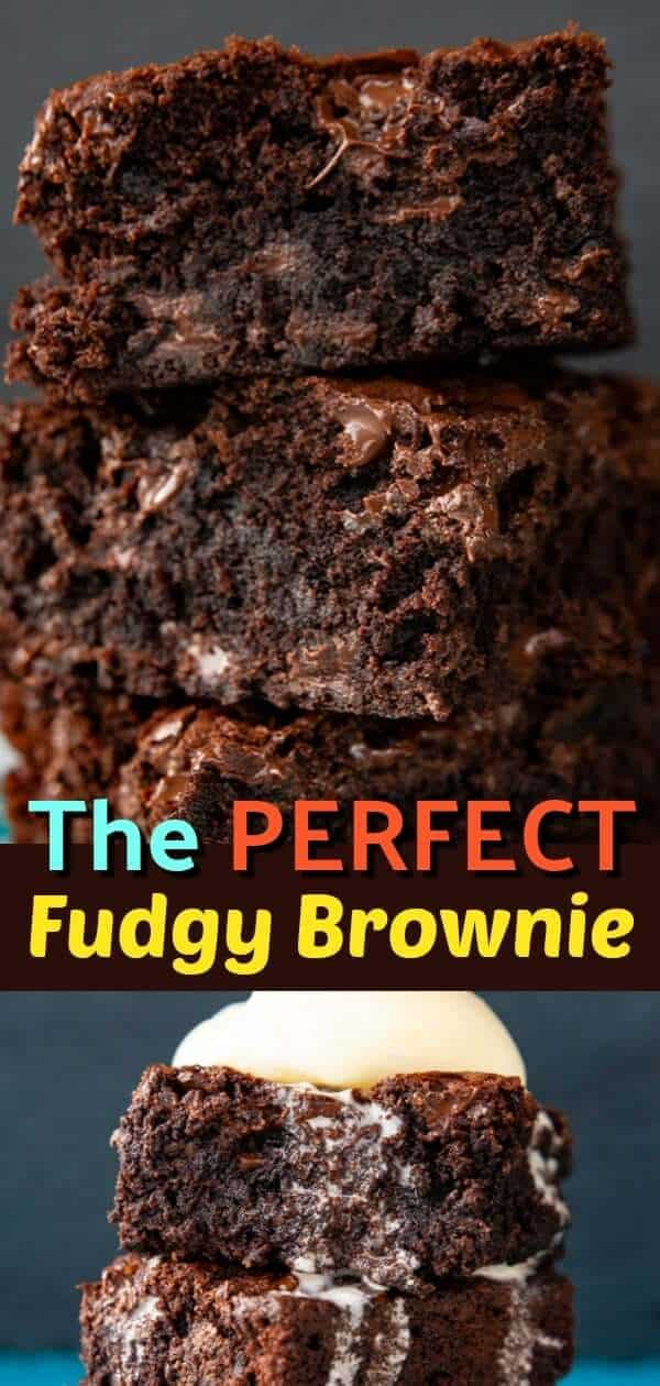 FROM MY COOKBOOK : The Perfect Brownie Recipe. These are for the people that love fudgy brownies! Read on to find out the tips and tricks for making chewy, fudgy brownies! #brownies #baking #dessert #chocolate #fudge #sweet #treat #cocoa #brownie