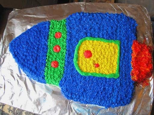 Space Ship/Rocket Birthday Cake