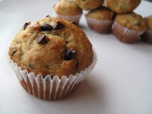 Chocolate Peanut Butter Oatmeal Muffins