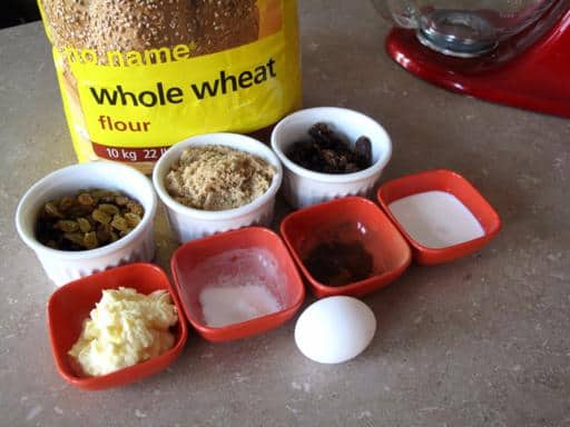 Ingredients Needed for Whole Wheat Hermit Cookies