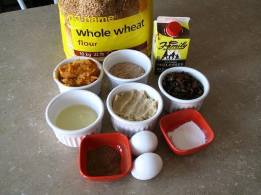Ingredients Needed in Making Pumpkin Bran Muffins