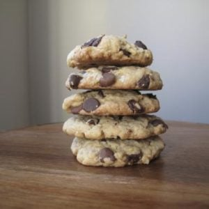 Stack of The Ultimate Sin Cookies on Wood