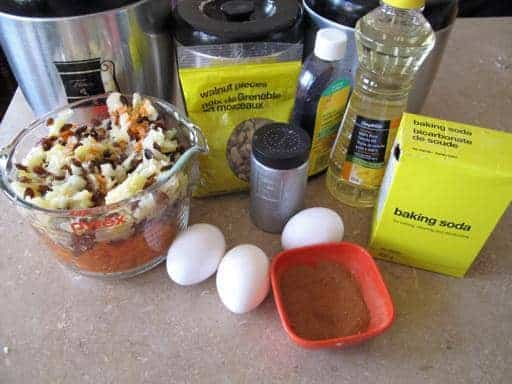 Ingredients needed for Fully Loaded Carrot Cake