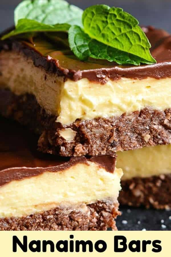 Nanaimo bars are a Canadian dessert staple! This buttercream custard filled bar is a sweet-tooth's dream! #square #bar #dessert #nanaimobars #sweet #sugar #recipe #nobake #chocolate #easyrecipe