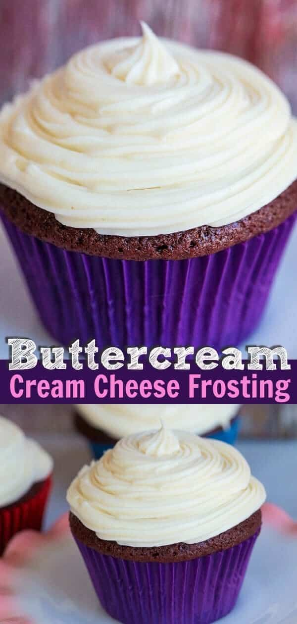 How to make the creamiest, richest, tangiest and best cream cheese frosting ever! Swirl this on top of red velvet cake, carrot cake and cupcakes galore! #frosting #buttercream #creamcheese #cupcakes #redvelvet #icing #recipe #dessert