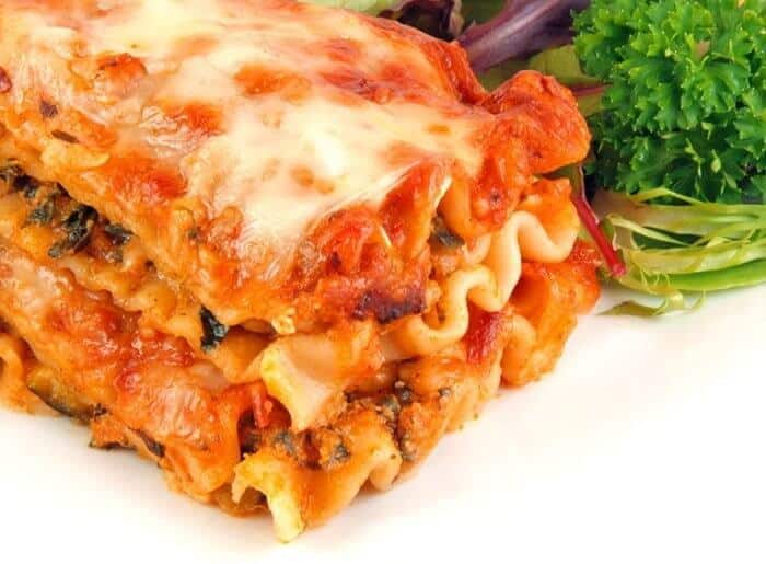 Vegetable Lasagna with no-boil noodles
