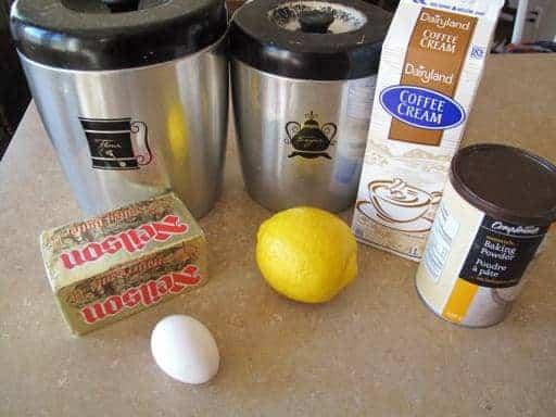 Ingredients needed in making Lemon Scones