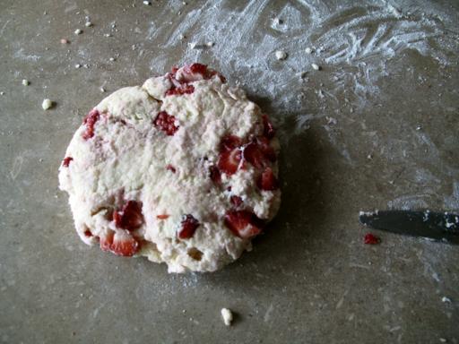 Flatten Strawberry Yogurt Scones dough