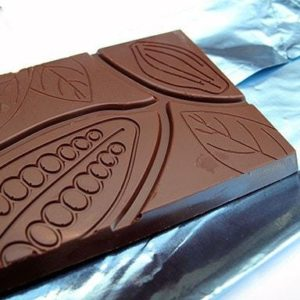 close up of the Choklat bar pattern on top