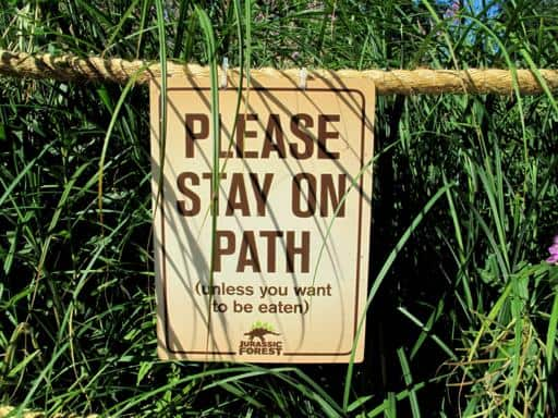 signage to stay on the path