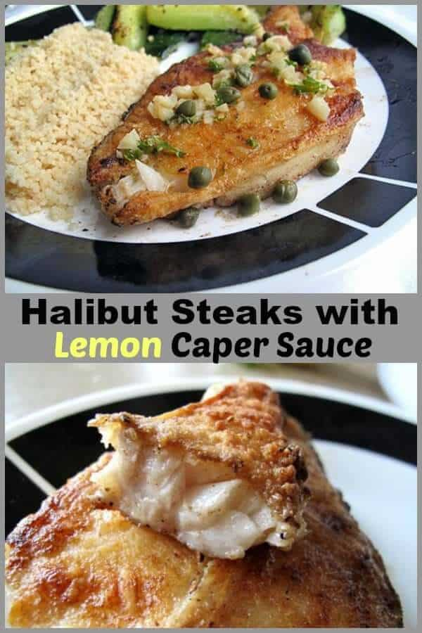 This Pan Seared Halibut With Lemon Caper Sauce is a decadent yet easy way to cook up some halibut when the occasion calls for it.  #fish #eatinghealthy #healthyfood #recipe #halibut #friedfish #seafood #lemon #capers