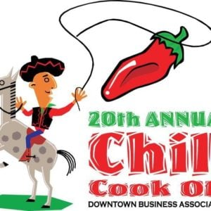 Chili Cook Off logo with red chili and a cowboy