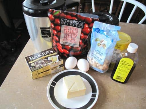 Ingredients Needed for Chocolate Cherry Biscotti