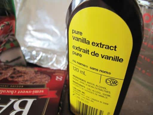 a bottle of real vanilla