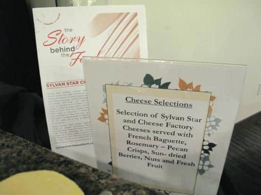 cheese selection signage