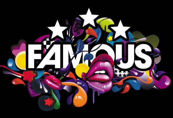 colorful logo of Famous Lips