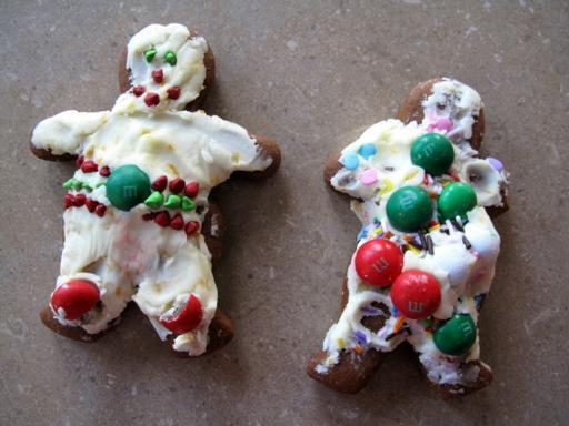 two pieces of Gingerbread Men cookies