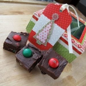 Mint M&M Fudge perfect for gifting