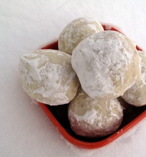 Russian Tea Cakes or Snowball Cookies