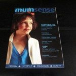 mumsense magazine with a woman in the cover