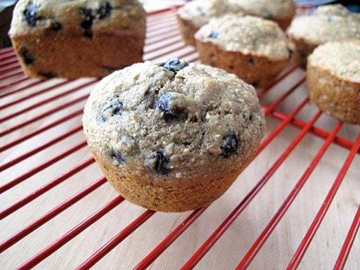 Nine Grain Blueberry Muffins