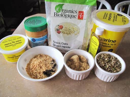 Ingredients Needed in Making Honey Bars