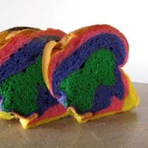 colorful slices of bread