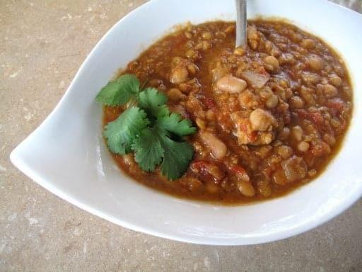 Spicy Lentil & Bean Soup