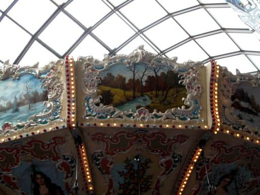 close up of the top of Swing of the Century ride where the chains were attached