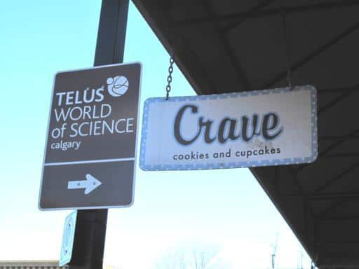 Signage of Crave and Science Calgary