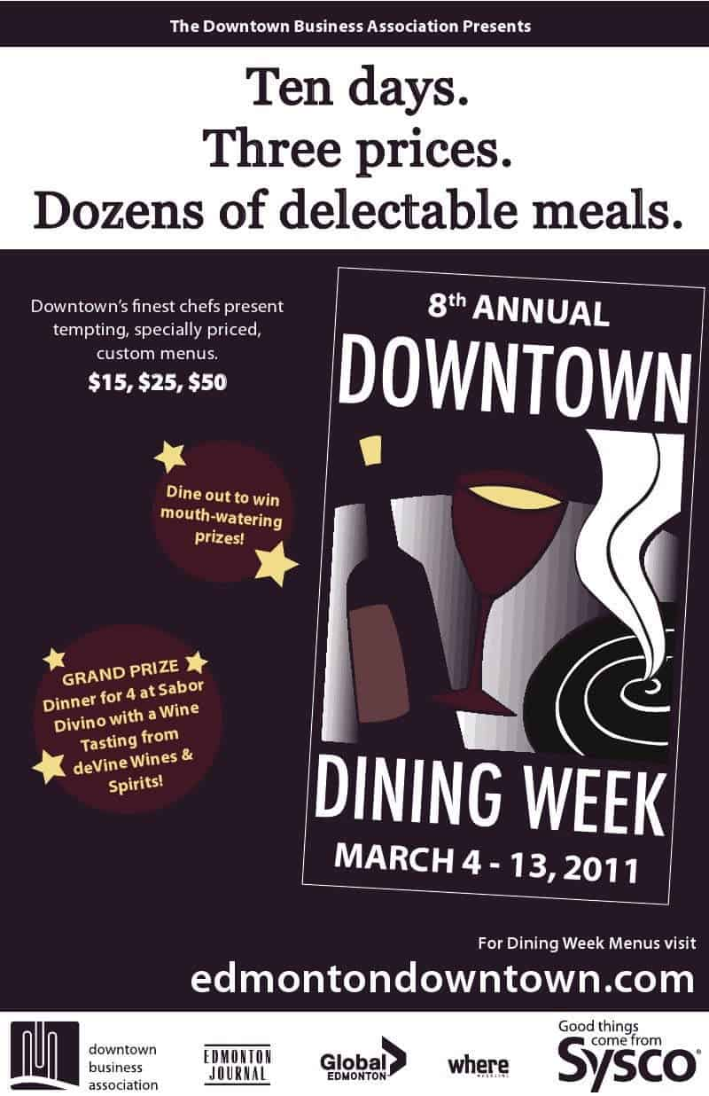 Downtown Dining Week in Edmonton