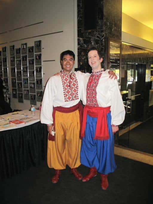 Two male cast of Shumka dancers