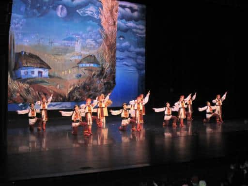 Shumka dancers performing their dance number