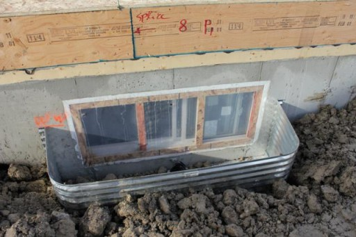 close up of the measurements of house foundation