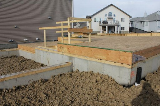 foundation of the house started to build