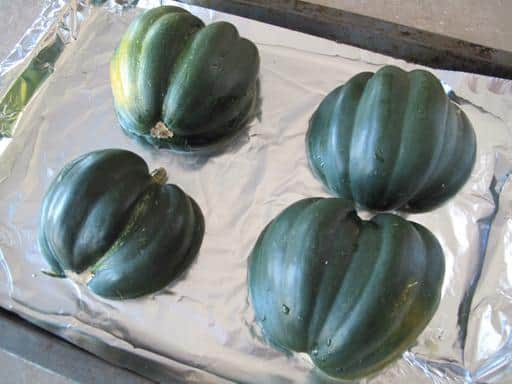 How to Place Acorn Squash on Baking Sheet
